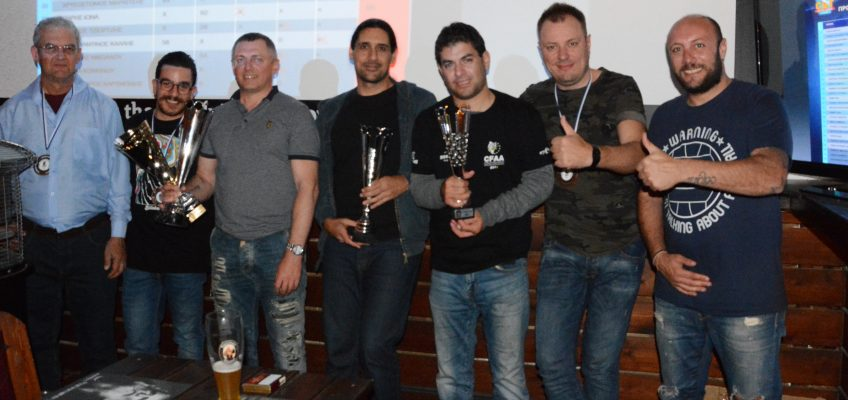2018 Cyprus Bass Tournament Award Ceremony – 20/11/2018